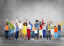 Concepto social de la celebración de la gente de la diversidad de la red social medios Foto de archivo