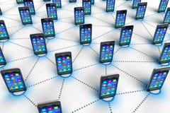 Concepto social de la comunicación de la red y del mobilie