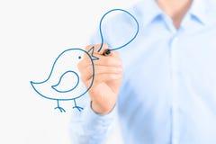 Concepto social de la comunicación de los media Fotografía de archivo