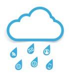 Concepto social de la nube de los media libre illustration