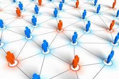 Concepto social de la red Foto de archivo