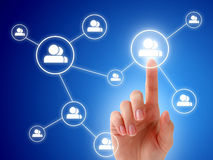 Concepto social de la red. Imagen de archivo libre de regalías
