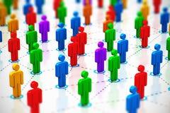 Concepto social de la red Imagen de archivo