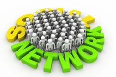Concepto social de la red Foto de archivo libre de regalías