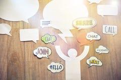 Concepto social de la red Imagenes de archivo