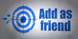 Concepto social de la red: apunte y añada como amigo Fotos de archivo