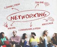 Concepto social de la red de la conexión de Media Communication foto de archivo libre de regalías