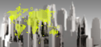 Concepto social de la red del comercio electrónico Fotografía de archivo