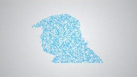 Concepto social de la red, vídeo 4k stock de ilustración