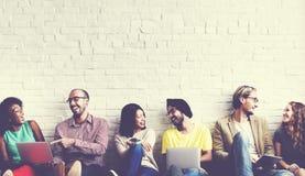 Concepto social de la tecnología de Media Communication de la red Fotografía de archivo libre de regalías