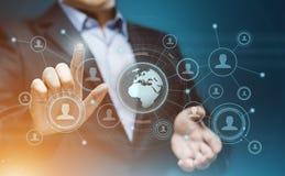 Concepto social de la tecnología del negocio de Internet de la red de Media Communication fotografía de archivo