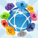 Concepto social de los media Imagenes de archivo