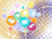 Concepto social de los media Imágenes de archivo libres de regalías