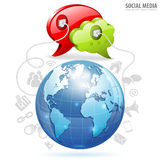 Concepto social de los media Imagen de archivo