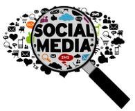 Concepto social de los media ilustración del vector