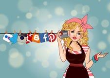 Concepto social de los media Foto de archivo libre de regalías