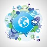Concepto social de los media del vector Imagenes de archivo