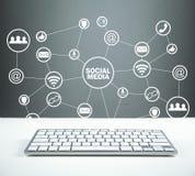 Concepto social de los media Negocio, tecnología, comunicación fotografía de archivo libre de regalías
