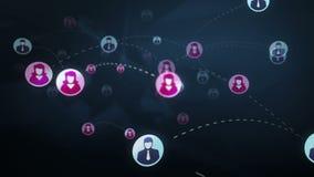 Concepto social de los medios de la red libre illustration