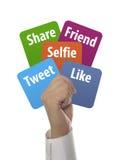 concepto social de los medios y de Internet Imagen de archivo