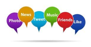 Concepto social de los medios y del establecimiento de una red Imágenes de archivo libres de regalías