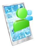 Concepto social del app del teléfono del icono de los media Fotos de archivo libres de regalías