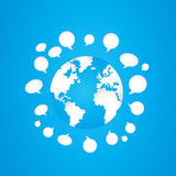 Concepto social del mundo de los media Imagen de archivo
