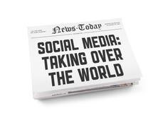 Concepto social del periódico de los media Fotos de archivo libres de regalías
