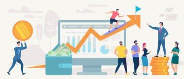 Concepto social del vector de la red y del trabajo en equipo stock de ilustración
