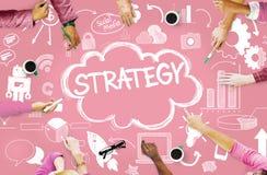 Concepto social en línea del márketing del establecimiento de una red de la estrategia medios Foto de archivo