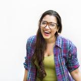 Concepto sonriente del retrato de la muchacha adolescente india Imagen de archivo libre de regalías