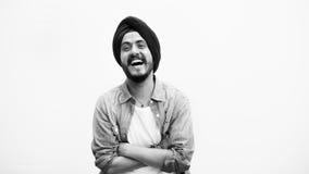 Concepto sonriente del retrato del muchacho adolescente indio Fotos de archivo