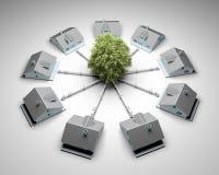 Concepto sostenible de la energía