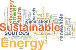 Concepto sostenible del fondo de la energía Fotos de archivo libres de regalías