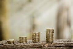 Concepto tailandés del tipo de cambio de moneda, negocio de información del fondo i Imagenes de archivo