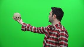 Concepto temporario del teatro almacen de metraje de vídeo