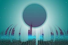 Concepto texturizado ciudad cibernética stock de ilustración