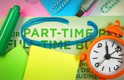 Concepto a tiempo parcial del negocio Imagen de archivo libre de regalías