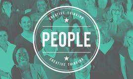 Concepto étnico de la sociedad de la población de la humanidad de la diversidad de la gente Imagen de archivo libre de regalías