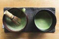 Concepto tradicional de la cultura de Matcha del japonés fotografía de archivo libre de regalías