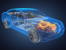 Concepto transparente del coche Fotografía de archivo libre de regalías