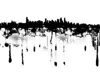 Concepto urbano de la ciudad del grunge Imagenes de archivo