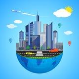 Concepto urbano de la tierra Ilustración del vector Fotografía de archivo