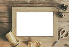 Concepto vacío del envoltorio para regalos del marco foto de archivo