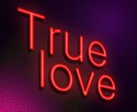 Concepto verdadero del amor. Fotos de archivo libres de regalías
