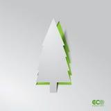 Concepto verde de Eco - pino abstracto. Fotografía de archivo