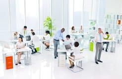Concepto verde de la conferencia del seminario de la reunión de la oficina de negocios Foto de archivo