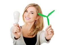 Concepto verde de la energía Fotografía de archivo