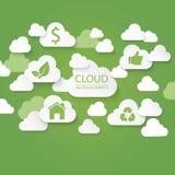 Concepto verde de la nube Imagen de archivo libre de regalías