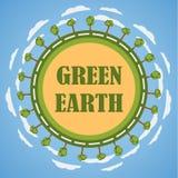 Concepto verde de la tierra del planeta Imagen de archivo